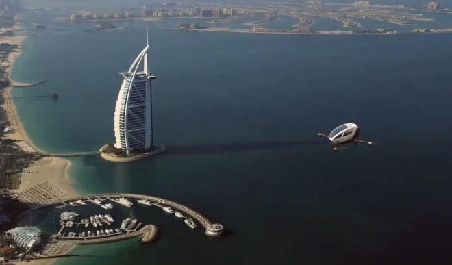 Дрон такси в Дубае