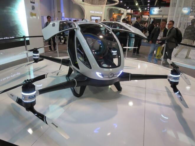 EHang-184 на выставке CES 2016
