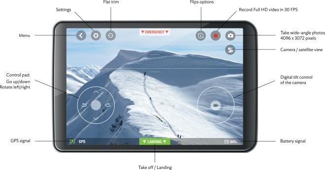 Приложение Parrot-Bebop-Drone