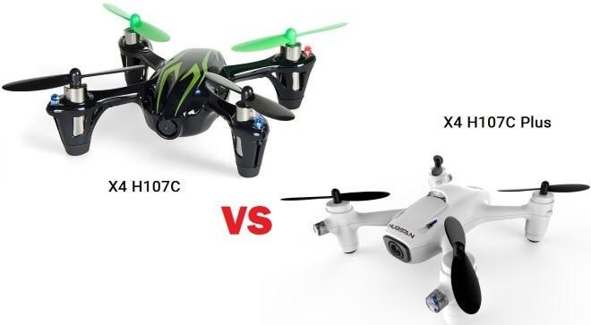 X4 H107С VS X4 H107С Plus