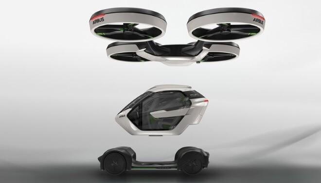 Концепт автомобиля и дрона