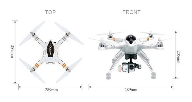 walkera qr x350 pro размеры