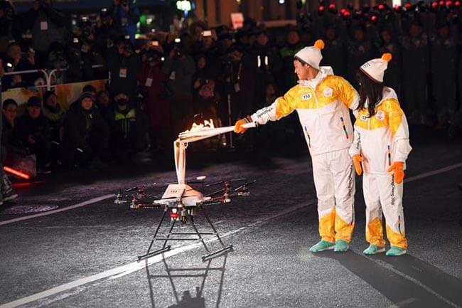 На зимней олимпиаде в Южной Корее будут использоваться дроны-перехватчики