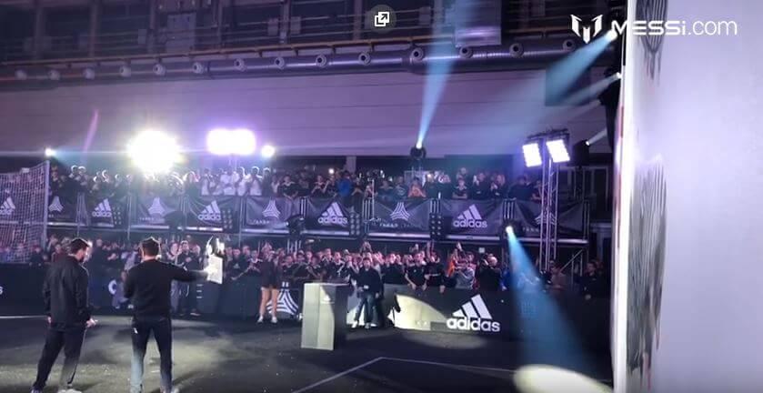 Adidas презентовал новые бутсы Месси с помощью квадрокоптера