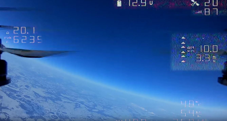 Квадрокоптер поднялся на высоту в 10 км
