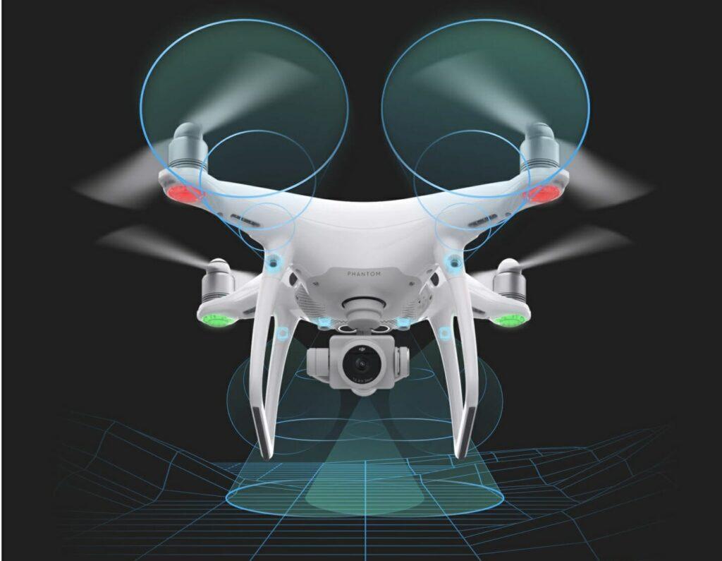 Датчики визуального позиционирования дрона DJI Phantom 4 Pro V.2.0