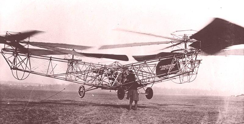 Первый квадрон - предшественник квадрокоптера