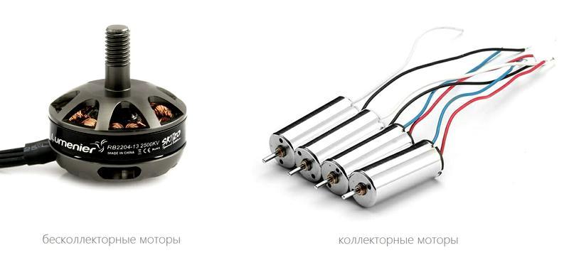 Виды современных моторов квадрокоптеров