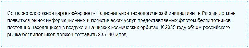 Перспективы БПЛА в России